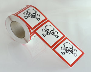 Varoitusmerkit Myrkyllinen GHS 06-10x10 cm
