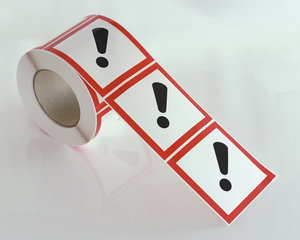 Varoitusmerkit Terveyshaitta GHS 07-10x10 cm