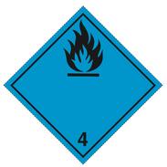 Luokka 4.3 - Varoituslipukkeet - 25 kpl