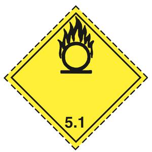 Luokka 5.1 - Varoituslipukkeet 25x25 cm - 25 kpl