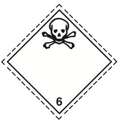 Luokka 6.1 - Varoituslipukkeet - 25 kpl