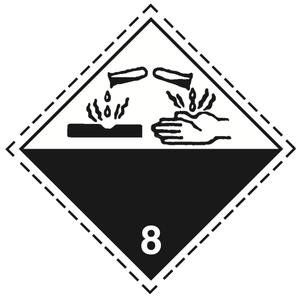 Luokka 8 - Varoituslipukkeet 25x25 cm - 25 kpl