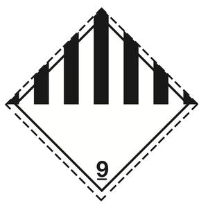 Luokka 9 - Varoituslipukkeet 25x25 cm - 25 kpl