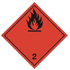Luokka 2.1 - Varoituslipukkeet - 25 kpl