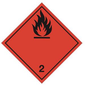 Luokka 2.1 - Varoituslipukkeet 25x25 cm - 25 kpl