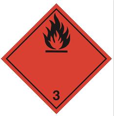 Luokka 3 - Varoituslipukkeet - 25 kpl