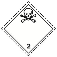 Luokka 2.3 - Varoituslipukkeet - 25 kpl