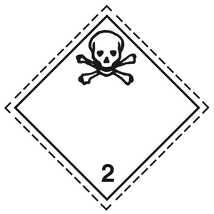 Luokka 2.3 - Varoituslipukkeet 25x25 cm - 25 kpl