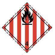 Luokka 4.1 - Varoituslipukkeet - 25 kpl