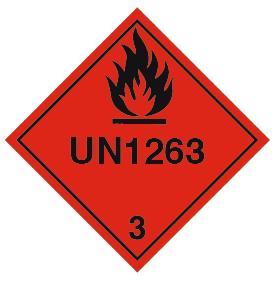 Varoituslipukkeet UN 1263